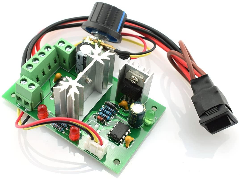 DZS Elec DC 6V-30V 6A 200W Motor Speed Controller Adjustable Reversible Control Switch PWM Speed Voltage Regulator Module 6V/12V/24V/30V