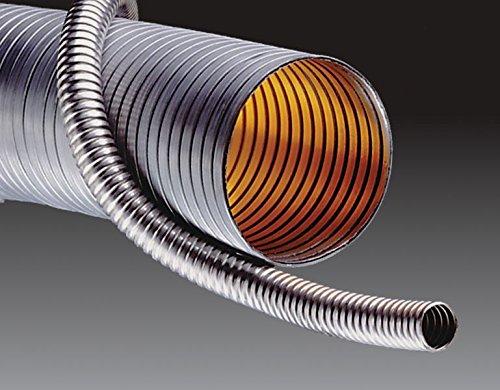 Kuriyama HTS4150-300X25 Light Weight Rough Bore Unlined Stainless Steel Interlocked Metal Hose, 3