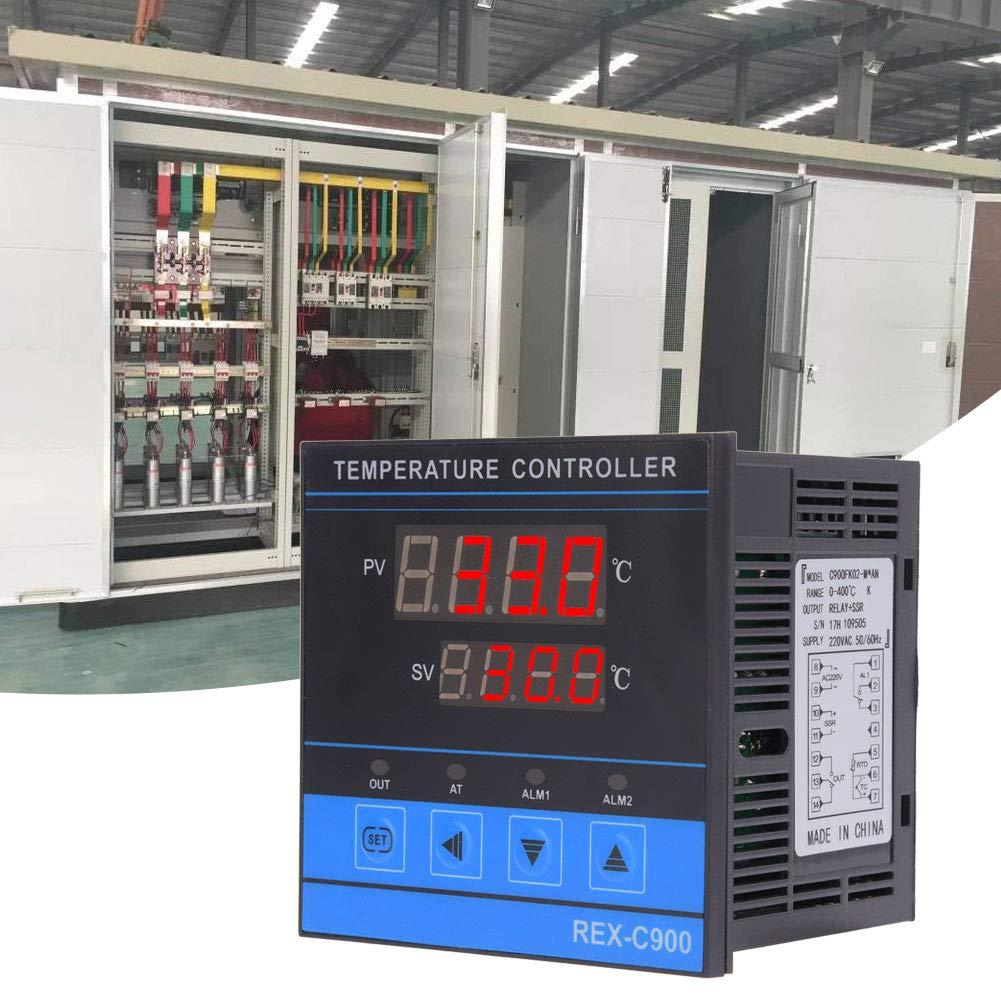 Temperature Controller, Digital Temperature Controller Intelligent High Sensitivity Relay+SSR Output 0-400℃
