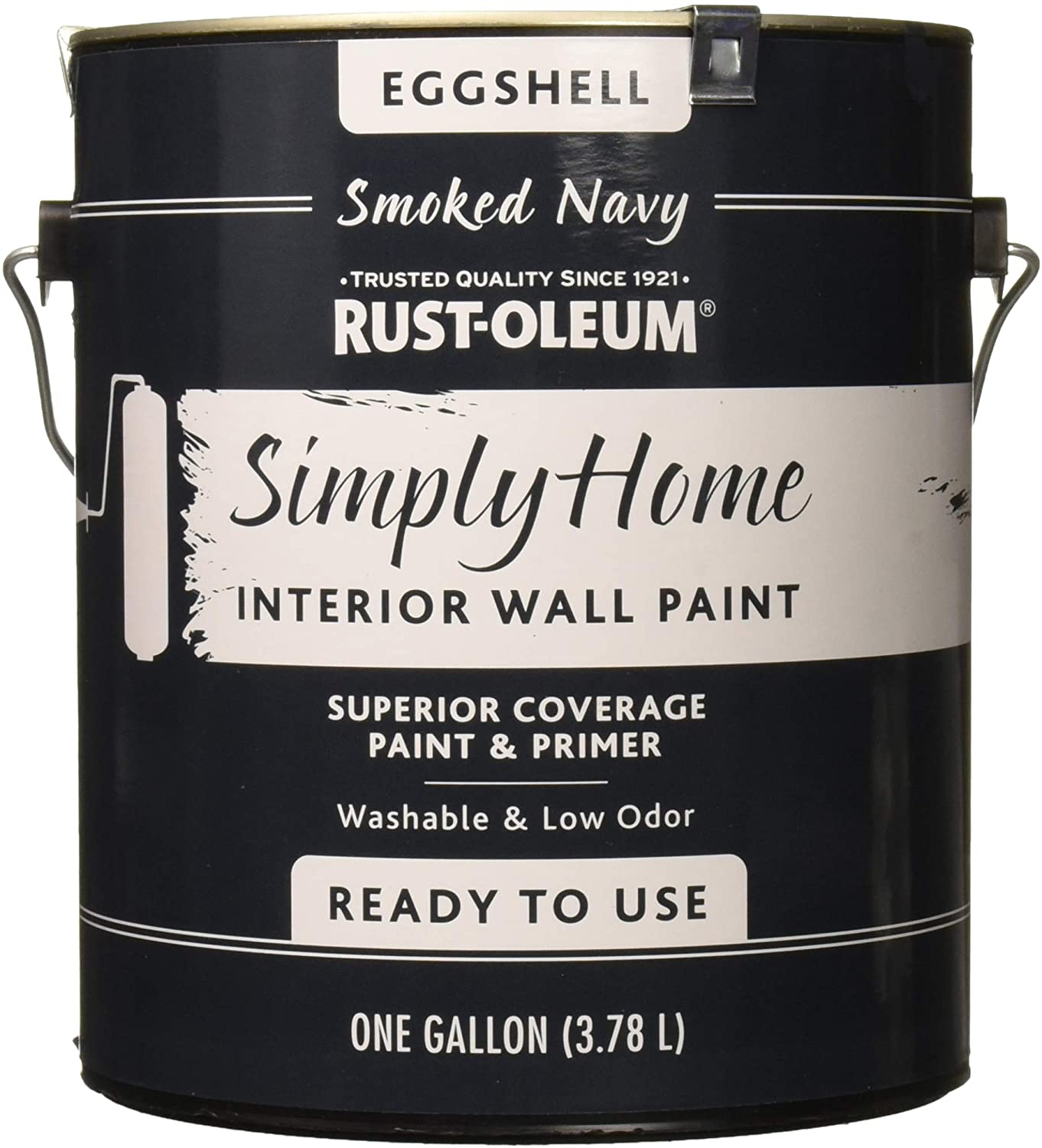 Rust-Oleum Simply Home Interior Wall Paint 332145 Simply Home Eggshell Interior Wall Paint, Smoked Navy