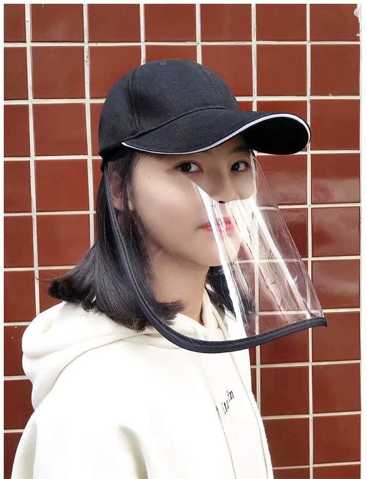 Detachable Anti Fog Protective Sun Protection Caps(Black)