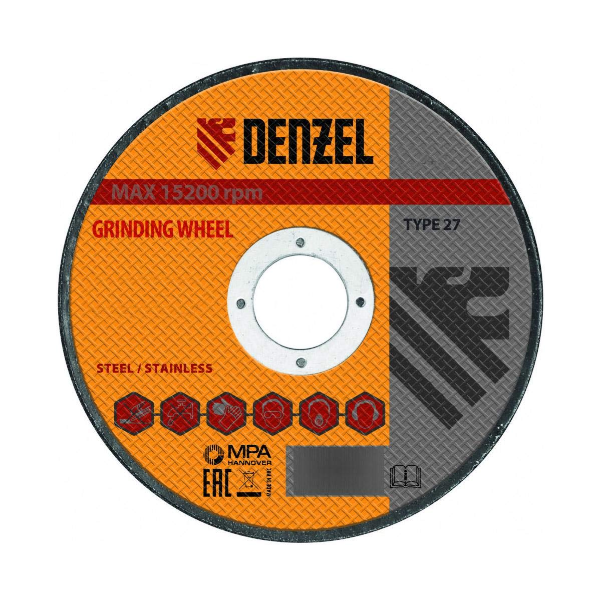 DENZEL Flap Grinding Wheel, Zirconia, Type 29-4 1/2
