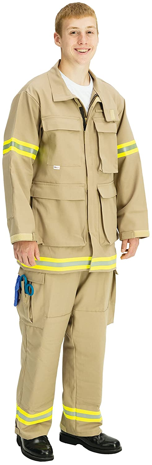 TOPPS SAFETY JK28-3950-Tall/50-52 INDURA Ultra Soft Extrication Suit Jacket, 9.0 oz, Tall/XX-Large, 50-52 Size, Tan