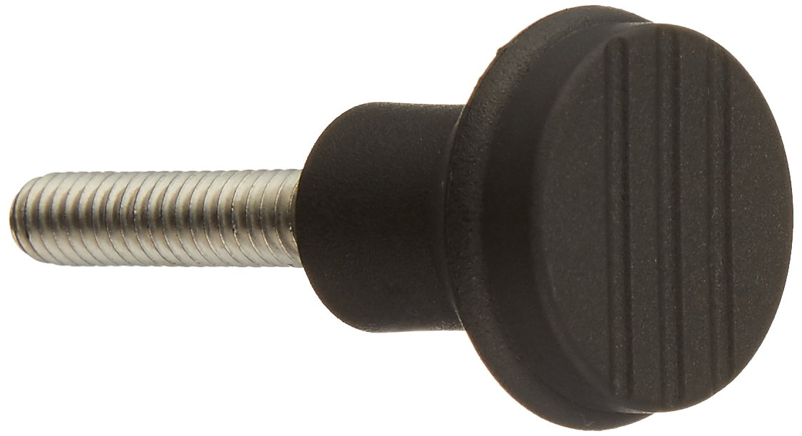 Kipp 06242-0A2X30 Thermoplastic Novo·Grip Grey Mushroom Knobs with 1/4-20