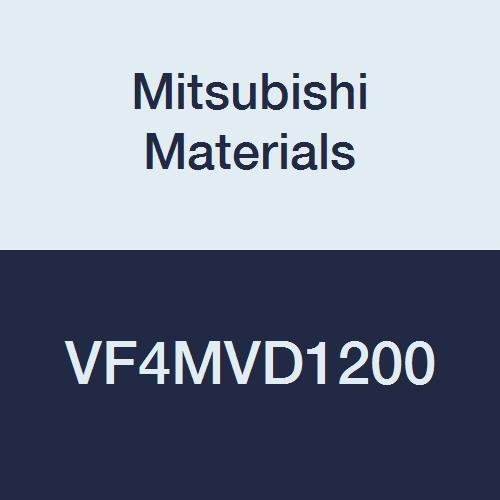 Mitsubishi Materials VF4MVD1200 VF4MV Carbide Impact Miracle Square Nose End Mill, 4 Medium Flute, Irregular Helix Flutes 12 mm Cutting Diameter, 30 mm LOC
