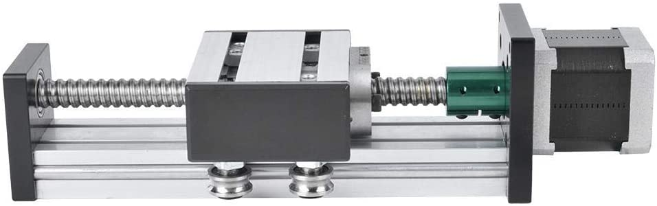 WZ-WZ Linear Guide 400mm, Aluminum Alloy Screw Slide Single Shaft Guide Stage and 57 Motor(1605) tool
