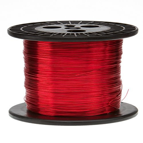 Magnet Wire, Heavy Build Enameled Copper Wire, 16 AWG, 10.0 Lbs, 1250' Length, 0.0538