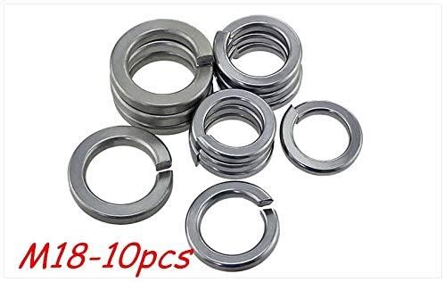 Ochoos 10pcs M18 304 Stainless Steel Spring Washer Shells Pad Elastic Gasket