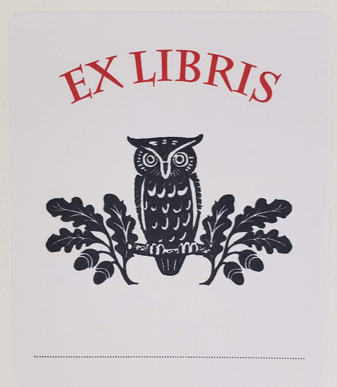 Bookplate with Owl - Ex Libris. Set of 10. 3