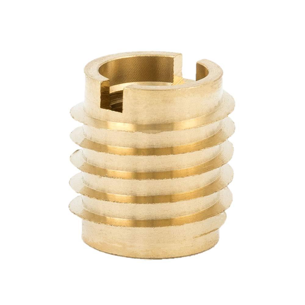 E-Z Lok 400-624 Threaded Insert, Brass, Knife Thread, 3/8