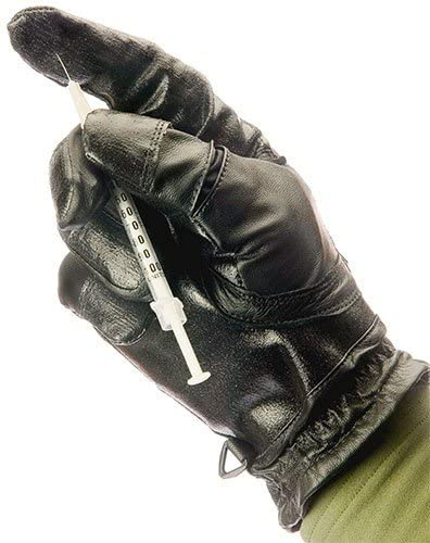 TurtleSkin Search Gloves - Medium - Black - Police Gloves - Needle Resistant Gloves