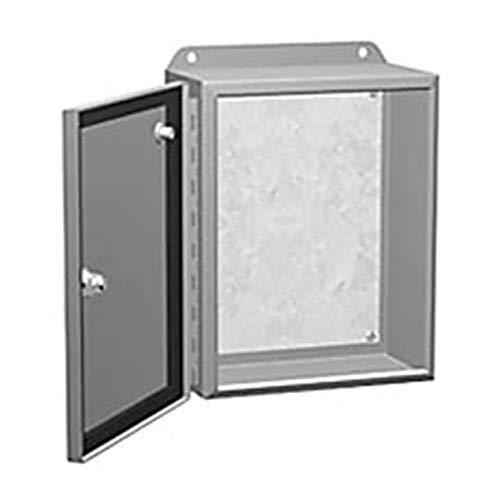 HAMMOND MANUFACTURING EJ444 (Price/EA) N4, 12 Eclipse JR Enclosure W/Panel, 4X4X4, Steel, Gray; Enclosure Type:Junction Box; External Height - Metric:102MM; External Width - Metric