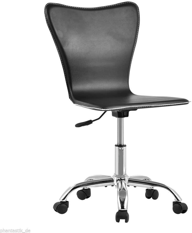 Modern Mid-Back Computer Desk Task Office Chair Armless Swivel Hight Adjustable