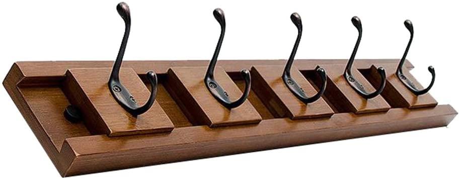 ZG Removable Coat Hook Rack Zinc Alloy Hook, Bamboo Wall Mount Clothes Hanger Hat Holder Key Organizer