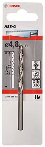Bosch 2608585921 Metal Drill Bit Hss-G 4, 8mmx52mmx3.39In