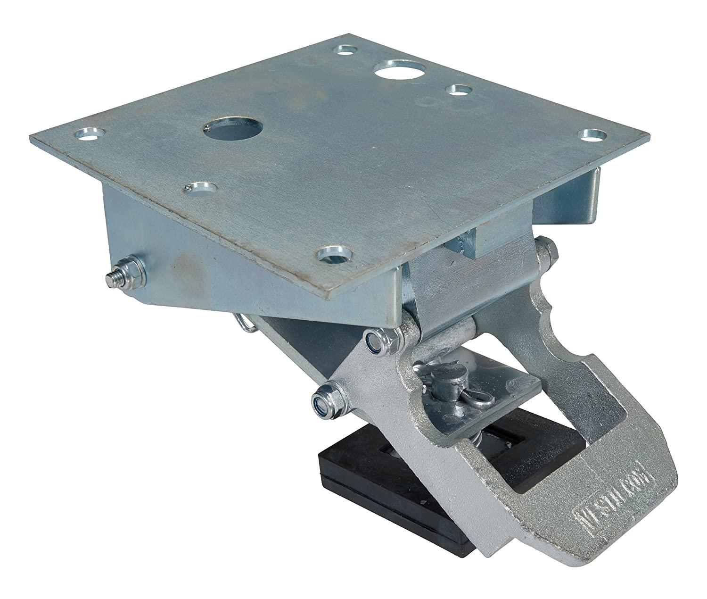 Vestil FL-LK-LP Heavy-Duty Cast Steel Low Profile Floor Lock with Zinc Plated Finish, 4-9/16