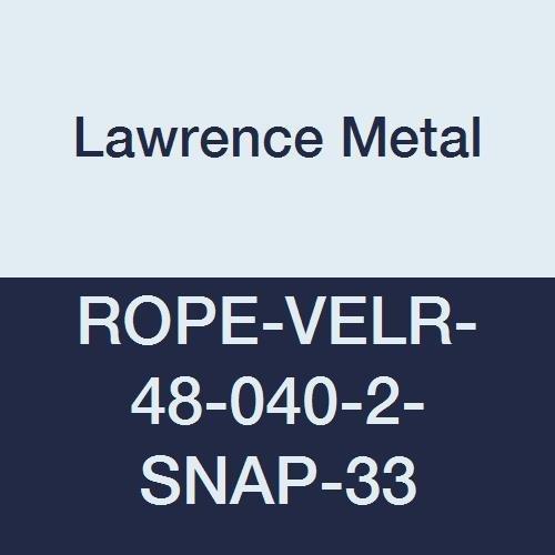 Lawrence metal ROPE-VELR-48-040-2-SNAP-33 Beige Rope Velour, 4' 0