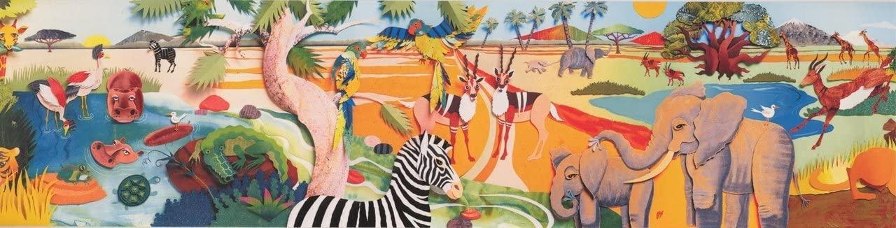 Cartoon Jungle Zebra Deer BB3025A Wallpaper Border