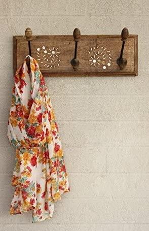 Wooden Handmade Wall Key Hooks Holder Coat Clothes Hangers Home Living Room Decor (3 Hooks)