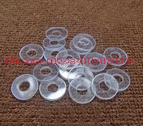 Ochoos 100pcs/lot M812.70.5 M8 Plastic PVC Flat Washer Gasket
