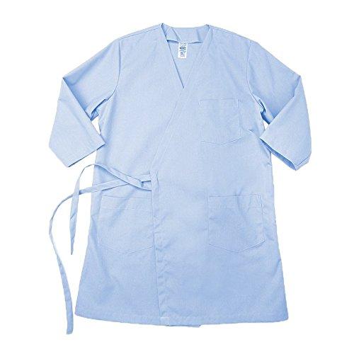 Pinnacle Textile WR17 5.25 OZ POPLIN 65/35 Polyester/Cotton, Wraparound Gown-Large-Light Blue