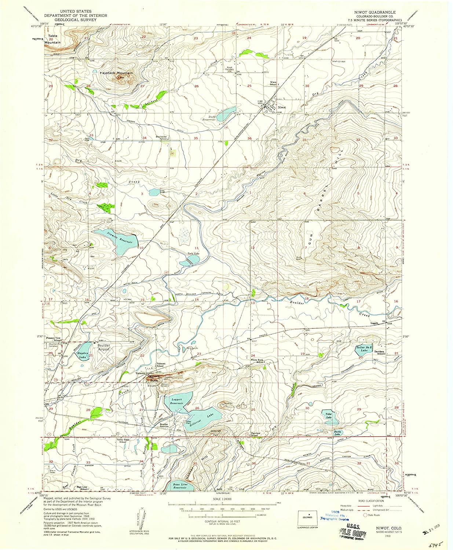 Map Print - Niwot, Colorado (1950), 1:24000 Scale - 24