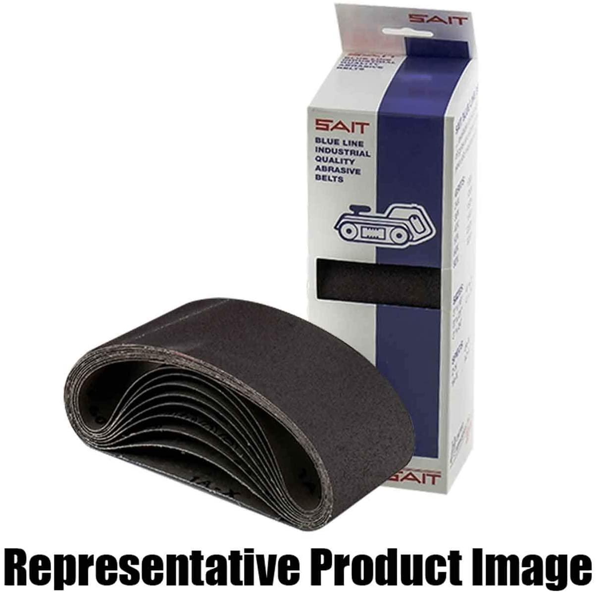 United Abrasives SAIT 57509 3x24 Blue Line 1A-X Aluminum Oxide Portable Sander Belt, 180 Grit, 10 pack