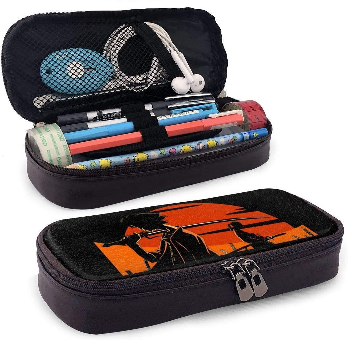 Samurai Champloo Teenager Pencil Bag, Small Tool Bag, Cosmetic Bag, Multi-Purpose Bag