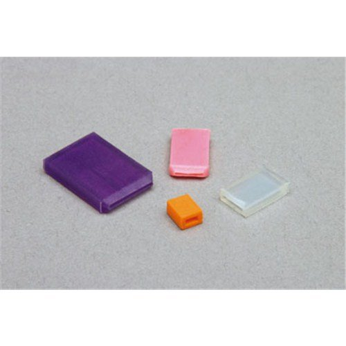TapeCase Silicone Square Caps, 0.157in W x 0.024in L x 0.787in H - 1000 (Units/Package)