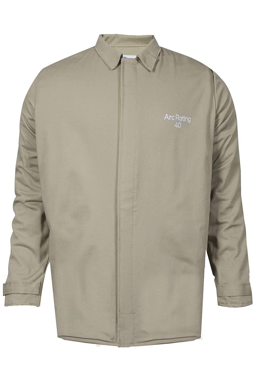 National Safety Apparel ArcGuard Economy Arc Flash Short Coat, Khaki, Large
