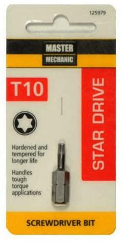 Master Mechanic 125979 Star Drive Torx 10 Insert Bit Tip, 1