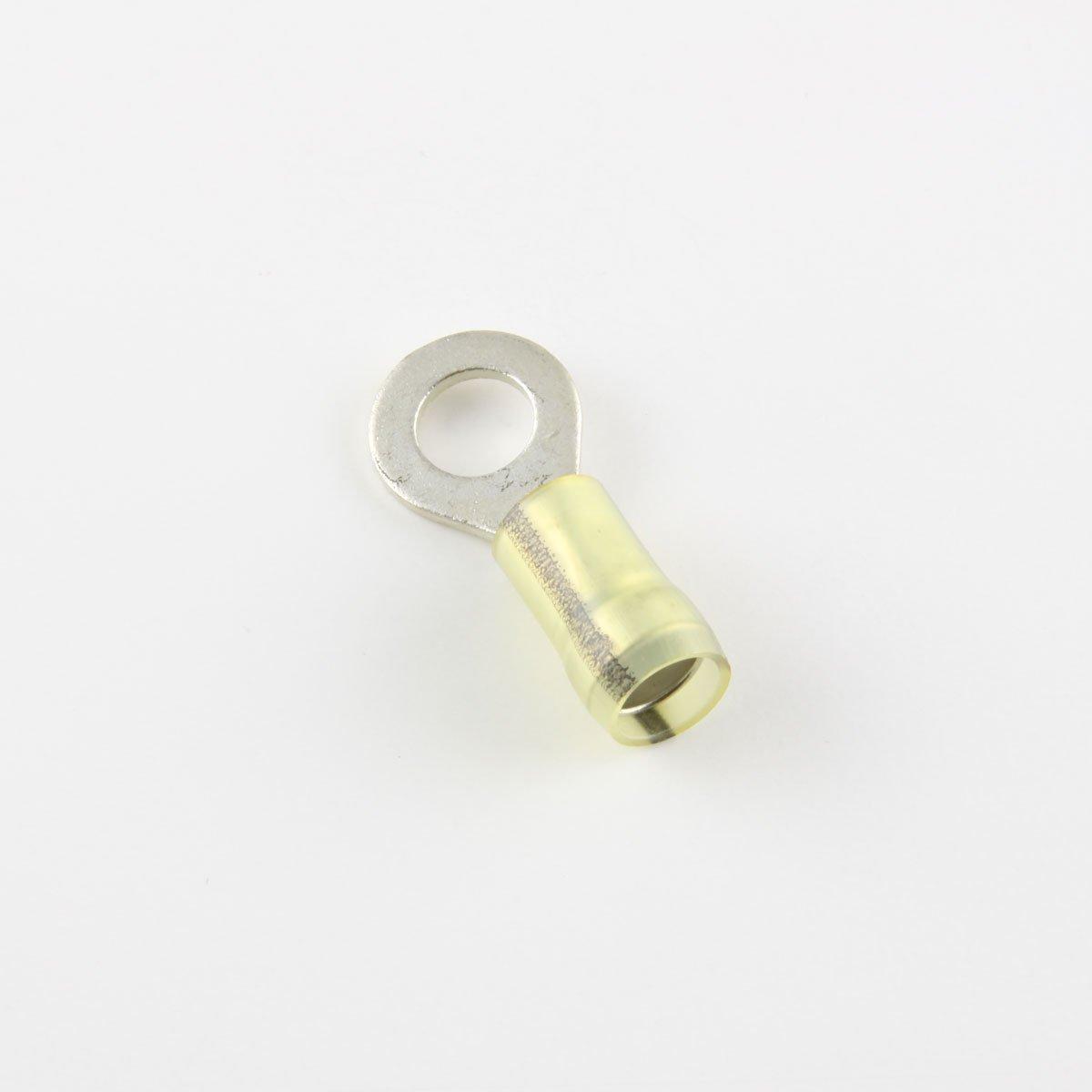 16-12 Ga. Heavy Duty Nylon-Insulated Ring Terminals, 1/4