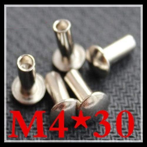 Ochoos 100pcs /lot M430 Truss Head Half Hollow Rivet Steel With Nickel