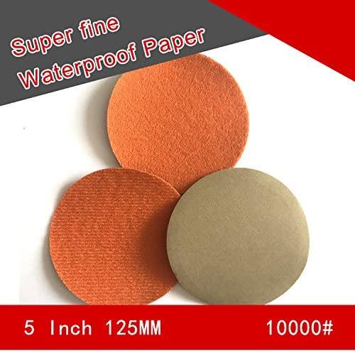 20 PCS 5 Inch Flocking Waterproof Sandpaper Abrasive Paper 800 to 10000 Grits Self-adhesive Wet & Dry for Sanding Polishing (10000)
