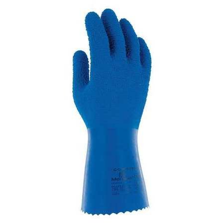 Chemical Resistant Gloves, Natural Rubber Latex, 8, 10