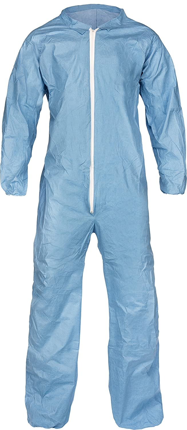 Lakeland Pyrolon Plus 2 Flame-Resistant Coverall, Disposable, Elastic Cuff, 3X-Large, Blue (Case of 25)