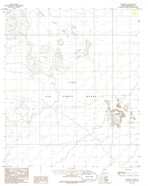Map Print - Sentinel SE, Arizona (1986), 1:24000 Scale - 24