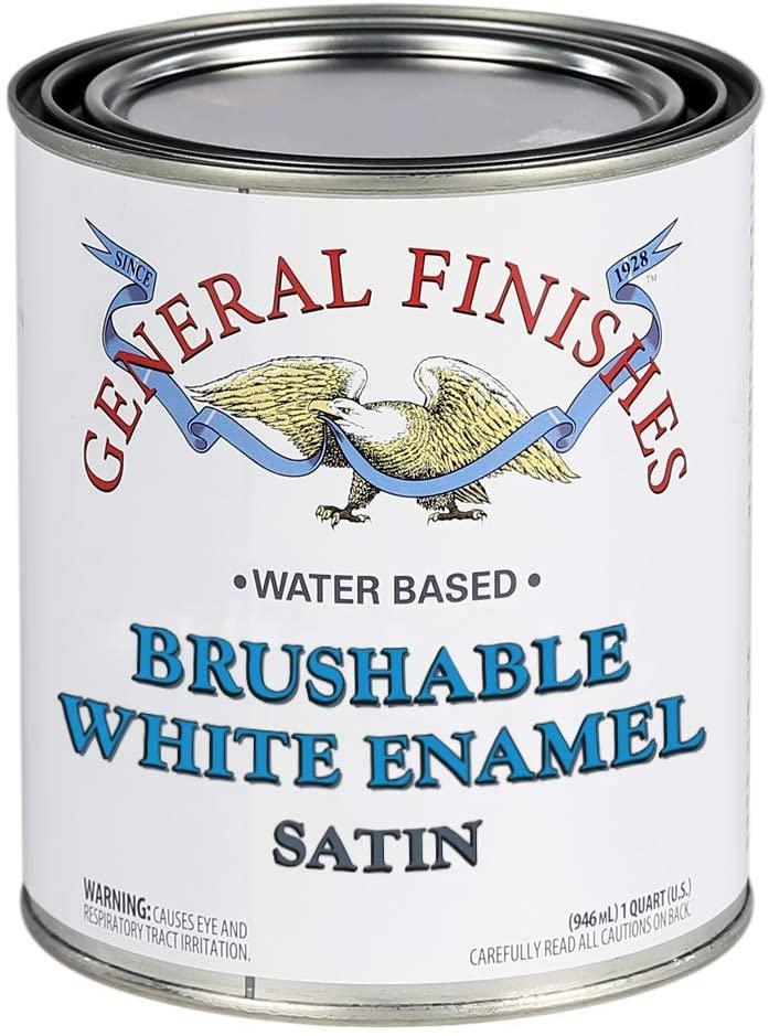 General Finishes Brushable White Enamel, 1 Quart, Satin