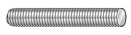 1-8 x 7 Plain Alloy Steel Fully Threaded Studs, 4 pk.
