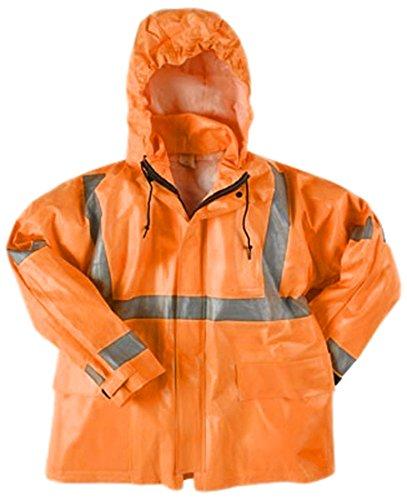 Neese Industries Style #227-AJ Dura Arc I PVC/Nomex Class 3 Jacket, Tuck-Away-Hood, 2XL, Fluorescent Orange