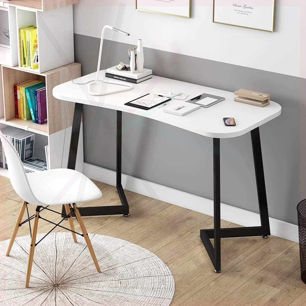ALIPC Solid Wood Durable Computer Desk,Functional Pc Laptop Table Easy to Assemble Workstation Desk for Home Office Gaming-l 100x50x75cm(39x20x30inch)