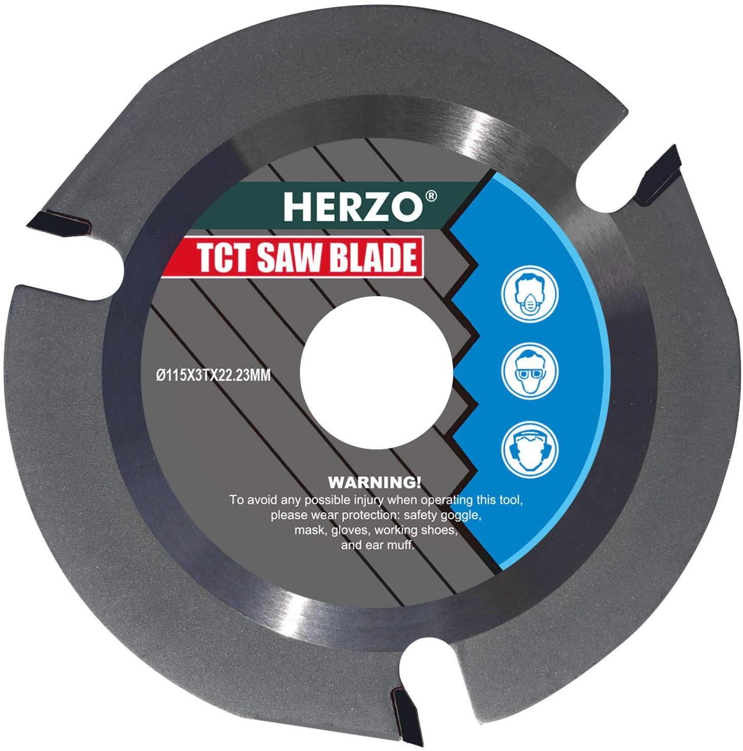HERZO Grinder Wood Cutting Blade Disc,Carbide Carving Discs for Angle Grinder 4.5-inch