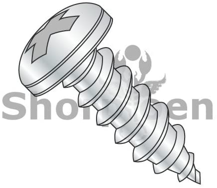 8-18X4 Phillips Pan Self Tapping Screw Type AB Fully Threaded Zinc and Bake - Box Quantity 700 by Shorpioen BC-0864ABPP