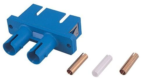 Adaptor, ST to SC Duplex, Blue Housing with Zirconia Sleeve (flange type)