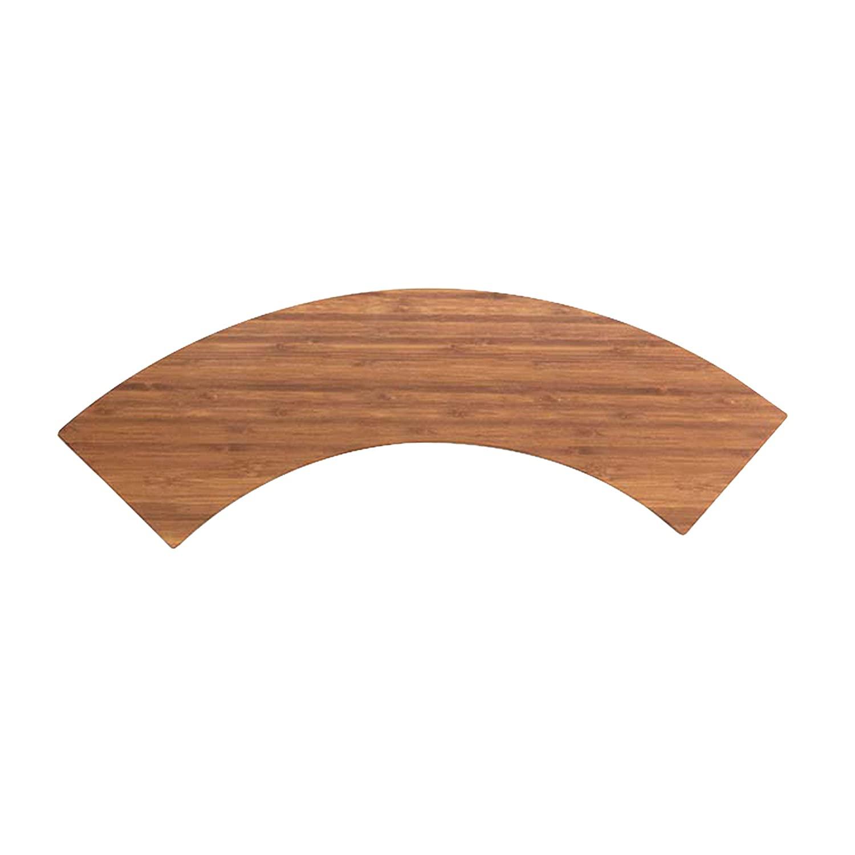 Elite Global Solutions M521QR-BB Quarter Circle Faux Wood, 5 x 21 x 5/8 h, Melamine, Bamboo (Pack of 3)