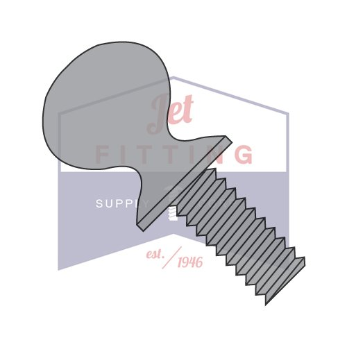 1/4-20 x 1 1/4 Thumb Screw with Shoulder Fully Threaded Plain Steel (Quantity: 600 pcs)