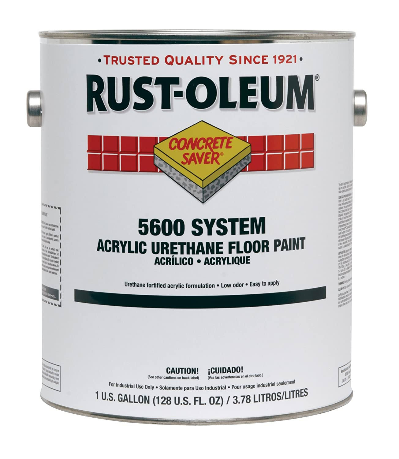Rust-Oleum 261177 Concrete Saver AS5600 System Acrylic Anti-Slip Floor and Deck Coating, 1-Gallon, Gray, 2-Pack