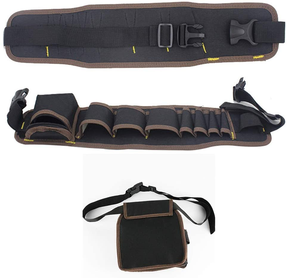 Multifunctional Drill Holster Waist Tool Bag Waterproof Electric Waist Belt Tool Pouch Bag Wrench Hammer Screwdriver Tool Pouch (black2)