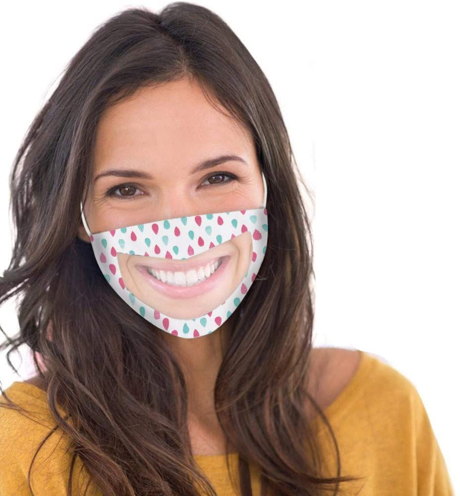 Reusable Dustproof Face Gauze Mouth Shield Unisex Dust Protection Face Shield Adult Cloth Shield with Clear Window Shield Sports Protection