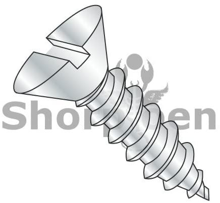 10-12X1 1/4 Slotted Flat Self Tapping Screw Type A Fully Threaded Zinc and Bake - Box Quantity 4000 by Shorpioen BC-1020ASF
